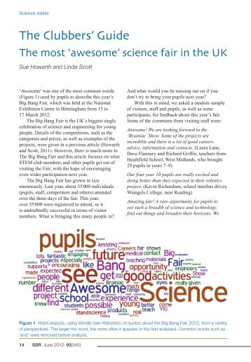 The Clubbers' Guide - The Association for Science Education