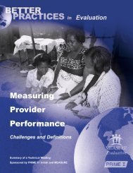 Measuring Provider Performance: Challenges and ... - Prime II