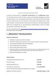 """I. """"Klassisches"""" Literaturseminar - Lehrstuhl für Energiewirtschaft"""