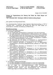21.03.09 Gemeinsamer Antrag HH Änderungen zum ... - SPD Siegen