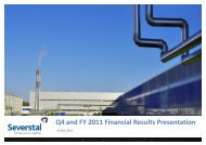 Q4 and FY 2011 Financial Results Presentation - Severstal