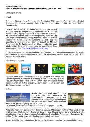 Details zur Fahrt nach Hamburg - Freiwillige Feuerwehr Mamming