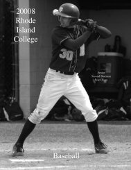 Baseball - Rhode Island College Athletics