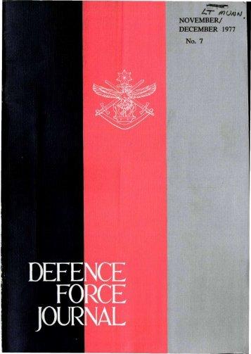 ISSUE 7 : Nov/Dec - 1977 - Australian Defence Force Journal