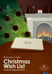 Ballygally Castle Christmas Residential Brochur - Hastings Hotels