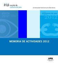 MEMORIA DE ACTIVIDADES 2012 - Escola de Cultura de Pau