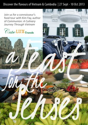 Discover the flavours of Vietnam & Cambodia | 27 ... - The Cape Club