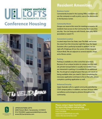 UEL Summer Conference Brochure