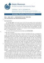 Rundbrief Nr. 12/2010 - Steyler Freundes- und Partnerkreise