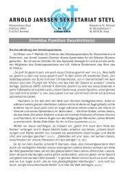 Rundbrief Nr. 12/2007 - Steyler Freundes- und Partnerkreise