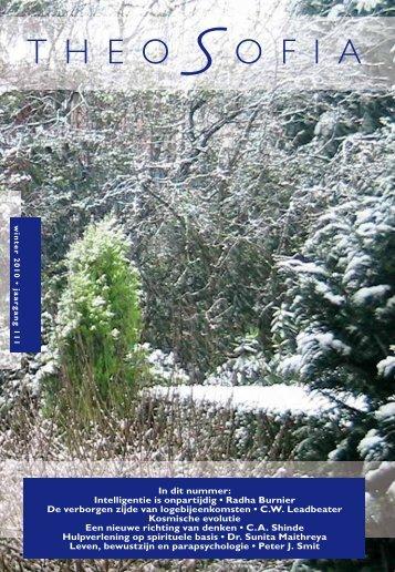 Jaargang 111, nummer 1, winter 2010 - Theosofische Vereniging in ...