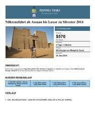 4 Tage Nilkreuzfahrt über Silvester in Ägypten - Memphis Tours ...