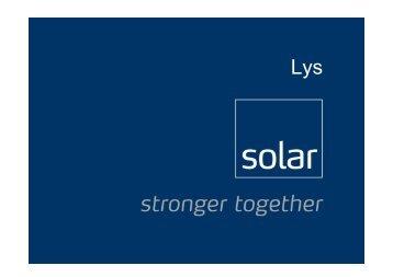 Lys - Solar Danmark A/S