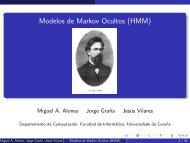 Modelos de Markov Ocultos (HMM) - eserved@d ... - Grupocole.org