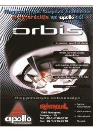 Apollo ORBIS termékcsalád - Elektrovill
