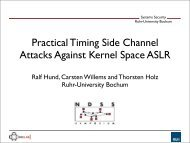 Practical Timing Side Channel Attacks Against ... - Internet Society