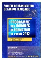 Télécharger le programme 2012 des formations de la SRLF