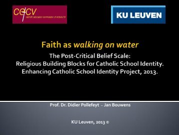 Lecture 1 Part 1, Faith as Walking on Water, Anthropology