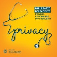 Dalla parte del paziente - Privacy: le domande più ... - ASL Milano