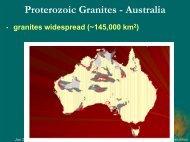 Proterozoic Granites - Geoscience Australia