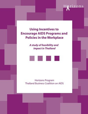 Using Incentives to Encourage AIDS Programs and Policies in the ...