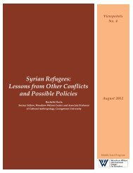 Syrian Refugees: Lessons from Other Conflicts and Possible Policies