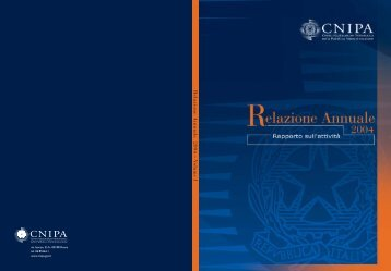 Relazione Annuale 2004 – V olume I - Archivio Storico CNIPA