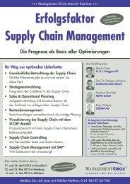 Seminar: Erfolgsfaktor Supply Chain Management - Management ...