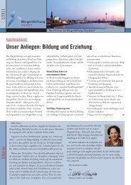Newsletter 1/2011 - BürgerStiftung Düsseldorf