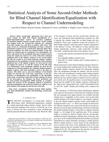 Statistical analysis of some second-order methods for ... - IEEE Xplore