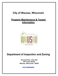 RESIDENTIAL RENTAL INSPECTION PAMPHLET ... - City of Wausau