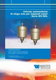 Valvole automatiche di sfogo aria per impianti ... - WATTS industries