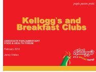 What is a breakfast club? - Associate Parliamentary Food and ...