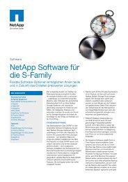 NetApp Software für die S-Family