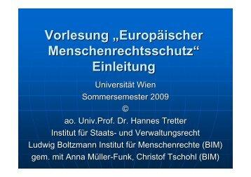 VO EMRS Einleitung - Ludwig Boltzmann Institut für Menschenrechte