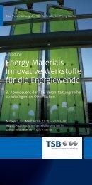 Energy Materials - HAUTE INNOVATION