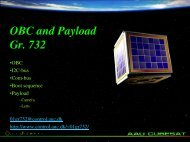 OBC and Payload Gr. 732