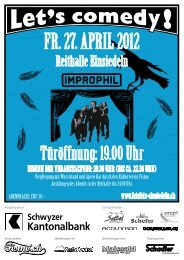 Fr. 27. aPril 2012 - Let's Fetz Einsiedeln