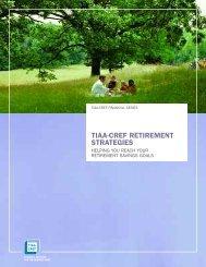 Retirement Strategies (PDF) - TIAA-CREF