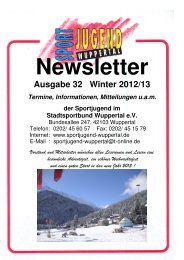 Newsletter 32 - Fachschaft Leichtathletik Wuppertal