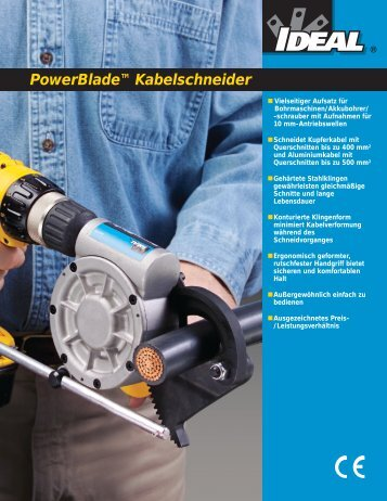 PowerBlade Cable Cutter - German - Ideal Industries
