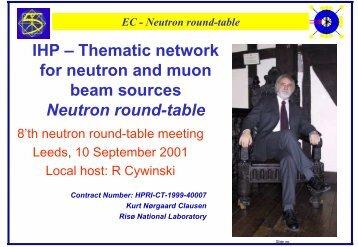 EC - Neutron round-table - European Neutron Portal