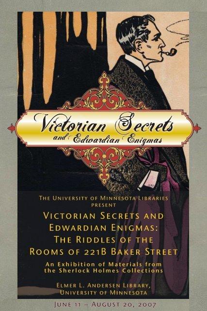 386c8ce00 Victorian Secrets and Edwardian Enigmas - University of Minnesota ...