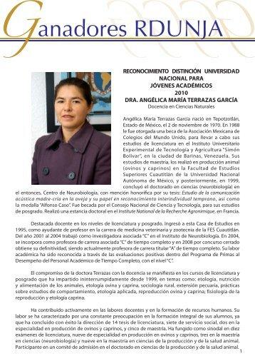 Dra. Angélica Ma. Terrazas - dgapa unam