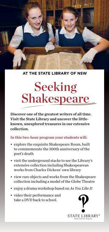 Seeking Shakespeare