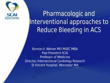 Pharmacologic and Interventional approaches to ... - cardioegypt2011