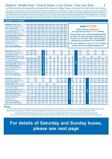 Stagecoach Carlisle Bus Timetable - Services 79/179/279/80 - Jan ...