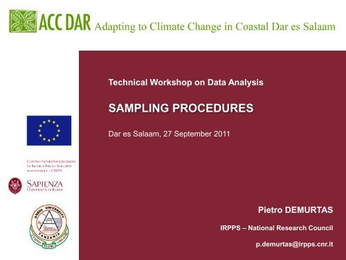 Workshop Slides, P. Demurtas 1 - Adapting to Climate Change in ...