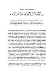 Verseny és szabályozás 2008 - Magyar Tudományos Akadémia ...