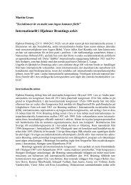 Internationellt i Hjalmar Brantings arkiv (Världen i källaren)